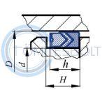 Tetőkarmantyús tömítés készlet 125x100x25,8 NBR - HDTK