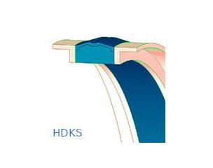 Dugattyútömítés, kompakt, szövetbetéttel - HDKS