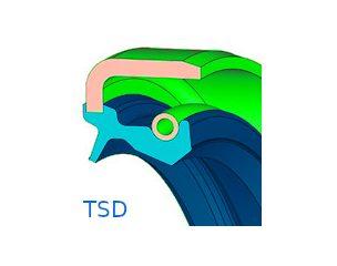 Szimering, fémházas, porvédő ajakkal - TSD