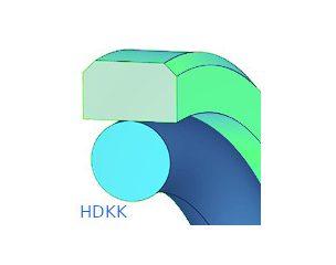 Dugattyútömítés, kétrészes, kéthatású - HDKK