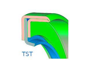 Szimering, teflon, PTFE - TST
