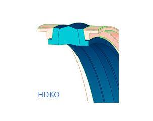 Dugattyútömítés, kompakt - HDKO