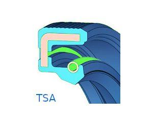 Szimering, gumiházas, egy tömítő ajakkal - TSA